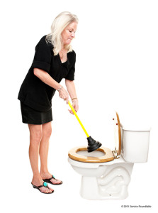 If you toilet is blocked you can try using a plunger... But if the problem persists you will need to cal a plumber.